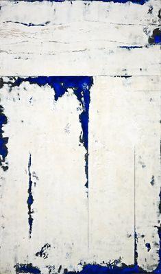 Pt.Dume1-1, 2010, 72x48, encaustic, pigment sticks on panel. Series of 3.  Kandy Lozano