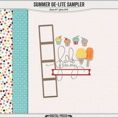 Quality DigiScrap Freebies: Summer De-Lite Sampler freebie from The Digital Press