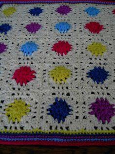 HANDMADE Crochet Blanket   Cuddle blanket (nannycheryl original) ID 696 £35.00