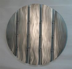 Contemporary metal wall art sculpture - unpainted stainless steel