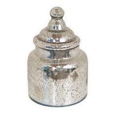 Lidded mercury glass Jar