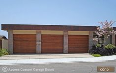 custom garage door- use ipe wood