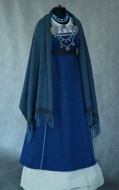 "Savelyeva Ekaterina ""s work Viking Garb, Viking Costume, Viking Dress, Medieval Dress, Historical Costume, Historical Clothing, Viking Clothing, Fantasy Dress, Traditional Dresses"