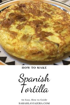New to Madrid or living here for a few years? If you still don't know how to make the famed tortilla de patatas and you live in Spain, now is the perfect time to learn! I've been making it ever since I studied abroad here (now I make it for two) and I finally wrote down my tips and tricks into this fun recipe post. Buen provecho! Spanish Potato Omelet, Spanish Potatoes, Onion, Madrid, Spain, Good Food, Dishes, Live, Breakfast