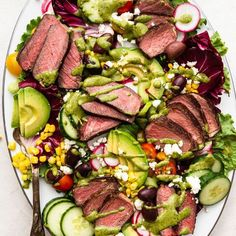 2021 Memorial Day Menu! by Andrea Loret de Mola, New York | The Feedfeed Savory Salads, Steak Salad, Cobb Salad, Cooking Recipes, Healthy Recipes, Food Platters, Quick Easy Meals, Food Inspiration, Salad Recipes