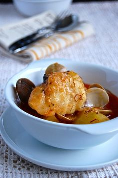 How to prepare a flavourful Suquet de Rap, one of the most delicious Catalan dishes is the Suquet de Rap, Catalan recipes, Spanish recipes, food, recipes