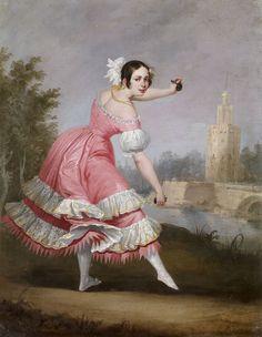 Antonio Cabral Bejarano. Una bolera, 1842. Colección Carmen Thyssen-Bornemisza en préstamo gratuito al Museo Carmen Thyssen Málaga