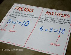 Factors and multiples~ A freebie is also included