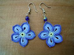 lavender flower earrings by PashaBodrum on Etsy