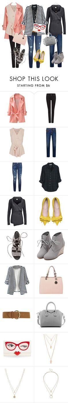 """""""3 outfits"""" by tanyaf1 ❤ liked on Polyvore featuring True Religion, Miss Selfridge, Xirena, Vero Moda, Rebecca Minkoff, WithChic, MICHAEL Michael Kors, Dorothy Perkins, Givenchy and Kate Spade"""