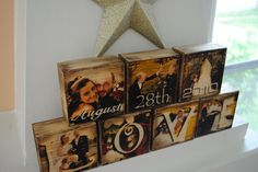 7 Photo Blocks Images Transferred to Wood / Photo by WhimsyBits