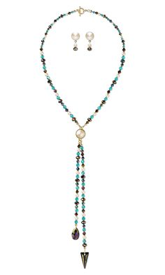 Jewelry Design - Lariat-Style Necklace and Earring Set with Swarovski® Crystals and Almost Instant Jewelry® Components - Fire Mountain Gems and Beads