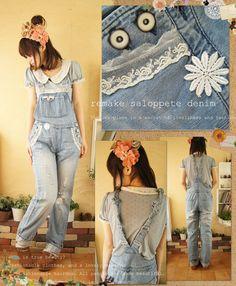 add lace to bib overalls