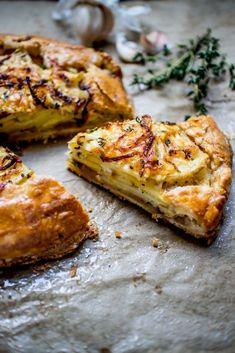 Potato Asiago & Caramelized Onion Galette