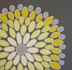 Cette brillante abstraite jaune et anthracite grise fleur est le complément parfait à nimporte quel pépinière jaune et gris, chambre à coucher ou despace dans votre maison. Un de mes combinaisons de couleur préférée !  La toile mesure 20 x 20 et est profond de 1,5. Elle est peinte sur tous les bords dans un anthracite foncé gris donc il ny a pas besoin dun cadre. Cette peinture est finie avec deux couches de vernis brillant pour le garder protégés.  Cette peinture est faite pour commander et…