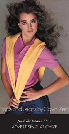 Brooke Shields for Calvin Klein Jeans 1980 ad campaign.