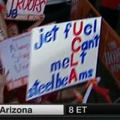 Football sign at UCLA gameday