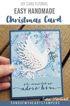 This beautiful handmade Christmas Card can be made quickly with my DIY card tutorial. Find out how today!