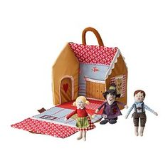 Look at those happy children with their awesome witchy loving grammy!!  SAGOHUS 4-piece fairytale house set - IKEA