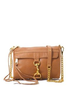 I have been eyeing Rebecca Minkoff's Mini Mac Bag in Almond for probably a good year and a half now...Love the gold hardware.