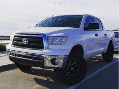 This 2011 Toyota Tundra RWD is running XD Buck wheels Federal Couragia Mt tires with SDT Leveling Kit suspension. 2011 Toyota Tundra, Lifted Tundra, Tyre Fitting, Lift Kits, Wheels And Tires, Gallery, Black, Roof Rack