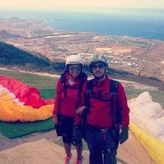 Paragliding ~ the bird's-flight view #tenerife #canaryislands