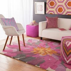 Floral Rugs Modern Area Rugs, Contemporary Rugs, All Modern, Modern Furniture, Armchair, Floral Rugs, Design, Home Decor, Modern Rugs