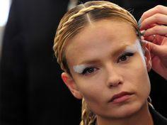 Make up da guerriera per Fendi