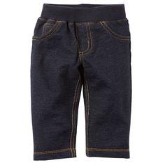 Amazon.com: Carter;s Baby Boys' Faux Denim Jeans Pants (24m, Blue): Clothing