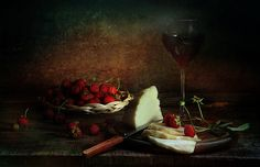 wine, cheese, and strawberries Still Life Flowers, Still Life Photos, Wine Cheese, Good Enough To Eat, Still Life Photography, Food Photo, Strawberries, Red Color, Masters