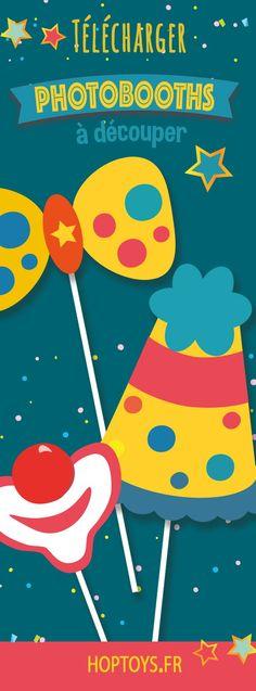 Des photobooths sur le thème du cirque à réaliser pour animer les anniversaires de vos loulou ! Un peu de découpage, un soupçon de montage, un appareil photo pour immortaliser ce moment et fous rires garantis ! Cirque Photo, Decoration Cirque, Fisher, Circus Party, Baby Love, 2nd Birthday, Photo Booth, Animation, Activities