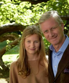 King Philippe of Belgium with daughter Princess Elisabeth, Duchess of Brabant. Oct. 25, 2016