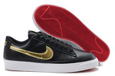 Cheap Cheaper Nike Blazer Low 09 Nd Leather Mens Black Gold Shoes Clearance Store Black And Gold Shoes, Black Gold, Your Shoes, Men's Shoes, Blazer En Cuir, Nike Flyknit Racer, Clearance Shoes, Leather Men, Nike Men