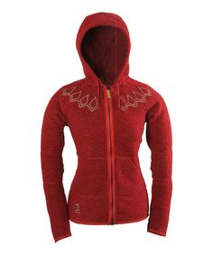 Take a look at this Red Kaldi Wool-Blend Hooded Sweater by 66 North on #zulily today!