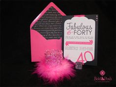 hot pink and black- colors for my 40th birthday extravaganza!