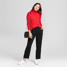 Women's Turtleneck Sweater - A New Day Red XL