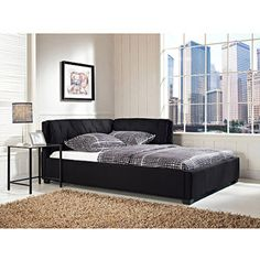 Tufted Lounge Reversible Full Bed, Black 209.00 for craft room/guest room