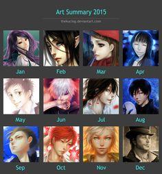 Art Summary 2015 by TheKucing.deviantart.com on @DeviantArt