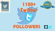 Get 1100+ Twitter Followers Only For 5$