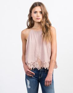 This Stitched Lace Cami Top is an instant stylish game changer. From work to play this lightweight cami top will keep you cool and your outfit on point. We love this paired with denim shorts for the day or a pair of black pants and pumps for work!