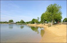 The bathing beach at Cotswold Country Park
