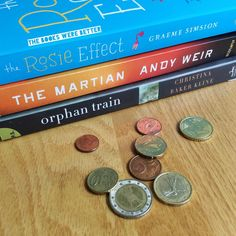 Small book haul! Orphan Train  The Martian (heard a lot of good things about this one The Rosie Effect (sequel to one of my faves!) #bookstagram #igreads #TheBooksWereBetter #bookblogger #bookhaul
