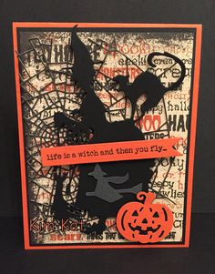 Spooky Witch Card Pop Up Halloween Tim Holtz 3D Black Cat Saying Stampin Up OOAK Mixed Media Handmade Halloween Pop Up Cards, Halloween Shadow Box, Halloween Scrapbook, Halloween Tags, Retro Halloween, Halloween 2019, Holidays Halloween, Halloween Crafts, Halloween Decorations