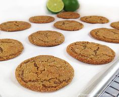 Lime Sugared Chewy Ginger Cookies: the ginger and lime zest give these cookies a little tart zing, while the sugar keeps them sweet.