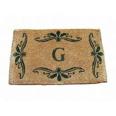 "Geo Crafts Imperial Monogrammed Doormat Rug Size: 2'6"" x 4', Letter: D"
