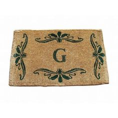 "Geo Crafts Imperial Monogrammed Doormat Rug Size: 2'6"" x 4', Letter: H"