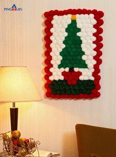 Pom Pom Christmas Tree (tutorial and pattern)