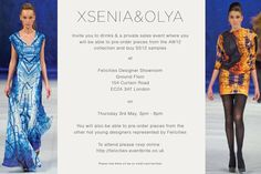 Come and join us on Thursday 3rd May to pre-order our AW12 collection and buy a few samples from the SS12 collection and check out hot new designers! Drinks and nibbles galore!