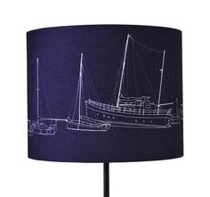 Nautical boat lamp shade for nursery