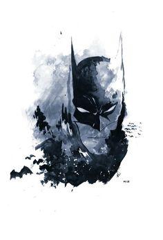 Batman watercolor art by MZ09